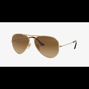 Ray Ban Aviator Gradient RB 3025 Gold/Brown